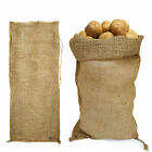 Jute Vegetable/Compost Hessian Sack Lrge 100% Biodegradable with Tie/Draw String
