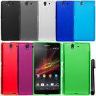 For Sony Xperia Z C6603 C6606 TPU SILICONE SKIN Protector Case Cover Phone + Pen