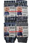 3 Mens Woven Classic Boxer Shorts Loose Fit Cotton Underwear / S M L XL XXL