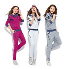 New Women Hoodie Tracksuits  Sweatsuit Jogging Tracksuits Jacket Pants Couture