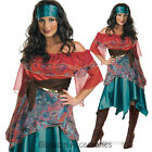 C407 Ladies Bohemian Fortune Teller Circus Gypsy Fancy Dress Halloween Costume