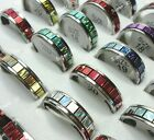 15-50pcs wholesale jewelry Color Shiny sheet stainless steel rings free shipping