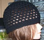 Custom Large Hand Crochet 100% Wool Beanie Skull Hat Cap New Mesh Unisex