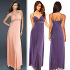 Womens Strappy Empire Rhinestone Evening Holiday Maxi Bridesmaid Party Dress