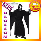 C682 Mens Ghost Face Halloween Scream Scary Fancy Costume Robe + Mask