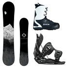 New 2015 System MTN + Flow Flite Bindings + APX Boots Men's Snowboard Package