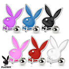 Authentic Playboy Bunny Surgical Steel Ear Cartilage Piercing Tragus Barbell