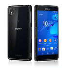 FUSION BUMPER GEL CASE WITH CLEAR BACK COVER FOR NEW SONY XPERIA Z3