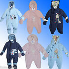 Baby All in One Snowsuit Pramsuit New Born Age 0-24 Months