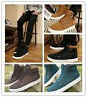 Fashion Men's Casual High Shoes Sneakers Flattie Trainers Antislip Shoe Fall LA