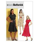 SEWING PATTERN Butterick B5315 Misses Short Sleeve BELTED MIDI DRESSES