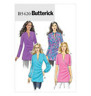 SEWING PATTERN Butterick B5420 Misses Fitted Stretch Knit PULLOVER TOPS