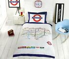 London Underground Tube Map Quilt Duvet Cover & P/cases Bedding Bed Sets 3 Sizes