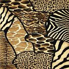 ANIMAL PRINT ZEBRA LEOPARD TIGER GIRAFFE  PATCHWORK FABRIC/RUBBER BACK COASTERS