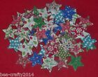 10/25/50 WHITE WOOD STAR  BUTTONS ASSORTED PATTERNS & COLOURS(877/41)