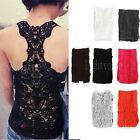 Fashion Sexy Lace Flower Tank Top Sleeveless Casual Cotton T-Shirt 002