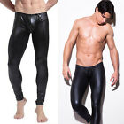 Fashion Men Casual Leather Dance Pants Muscle Tights Leggings Trousers clubwear