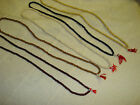 small Japa Mala Buddhist prayer style necklace surfer bead red tassle BUY2 GET3!