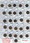 King George V Farthing 1911 - 1936 Choose your Coin / Set in Coin Wallet