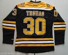 Boston Bruins Black #30 THOMAS Premier Women's NHL Reebok Hockey Jersey NEW - M