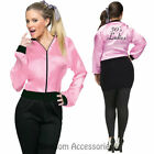CL150 Pink Satin Ladies Grease Jacket Lady 1950s 50's Frenchie Rizzo Costume