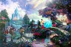 Thomas Kinkade Cinderella Wishes Upon A Dream 12x16 Classic Edition Disney