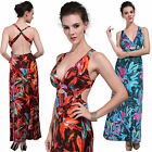 Digital Print Floral Sexy Summer Maxi Party Evening Cocktail Holiday Long Dress