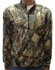 True Timber MC2 Silver Tec Heavy Weight Raglin 1/4 Zip Pull Over PA12