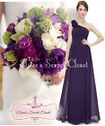 BNWT PIPPA Aubergine Dark Purple Corsage Chiffon Bridesmaid Maxi Dress UK 6 -18
