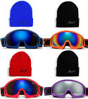 Kids Youth Snow Goggles Cloud 9 Winter Sports Ski Flash Mirror Dual Lens UV 100%