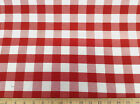 ( Swatch sample) Upholstery Drapery Twill Red and White Check 19DR