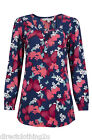NEW Red herring @ Debenhams LADIES BUTTERFLY FLORAL PRINT TOP Sizes 8-18 BLUE