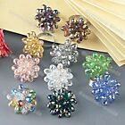 Faceted Crystal Glass Teardrop Beads Finger Ring Adjustable Pick Colors Jewelry