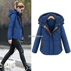 Coat Hooded Women's Jacket Outwear Winter Long Sleeve Short Windbreaker N98B