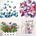 12 pcs New 3D Butterfly Sticker Art Design Decal Wall Stickers Home Decorations