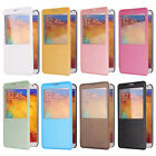 Screen View Flip PU Leather Case Cover Stand For Samsung Galaxy Note III/3 N9000