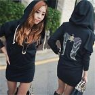 2014 New Women Angel Wings Print Long Sleeve Jumper Hoodie Sweater Mini Dress LA
