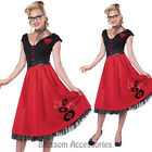 CL162 Rock and Roll Sweetheart Womens 50s 60s Grease Fancy Dress Costume Outfit