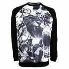 ROOK SWEATER SCRAPS MENS BLACK PRINT BODY JUMPER TOP