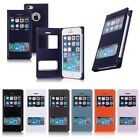 Front Dual View Window Flip PU Leather Case Cover Pouch for Apple iPhone 5 5G 5S