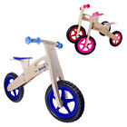 KIDS RIDE ON WOODEN BALANCE BIKE FIRST LEARNING BICYCLE CHILDRENS GIRLS BOYS