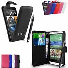 FLIP WALLET CASE POUCH PU LEATHER COVER FOR HTC DESIRE 510 MOBILE PHONE +SG+PEN