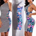 Women Bodycon Bandage Slim Fit Evening Party Dress Clubwear Patchwork Sexy