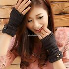Snowflake Wrist Arm Hand Warmer Knit Fingerless Mitten Winter Gloves 5 colors N9