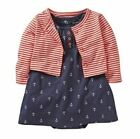 Carters 18 24 Months Anchor Bobysuit Dress & Cardigan Set Baby Girl Clothes Red