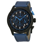 Versus by Versace Soho Chronograph Black Leather Mens Watch
