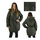 Michael Kors Army Green Faux Fur Hooded Anorak Jacket Coat