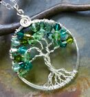 Petite/MINI Crystal Tree of Life Pendant with Sterling Silver Chain-Birthstones