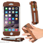 Genuine Real Leather Hand Strap Slim Case Pouch Cover For New Apple iPhone 6