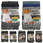 6 Pairs of Mens Cotton Rich Classic Boxershorts Pattern Trunk Boxers Underwear